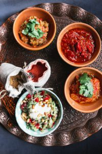 Mediterranean Quinoa Bowls With Roasted Red Pepper Sauce